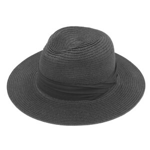 Women Foldable Summer Straw Panama Hat Wide Brim Fedora Beach Sun ... a4b561be96f