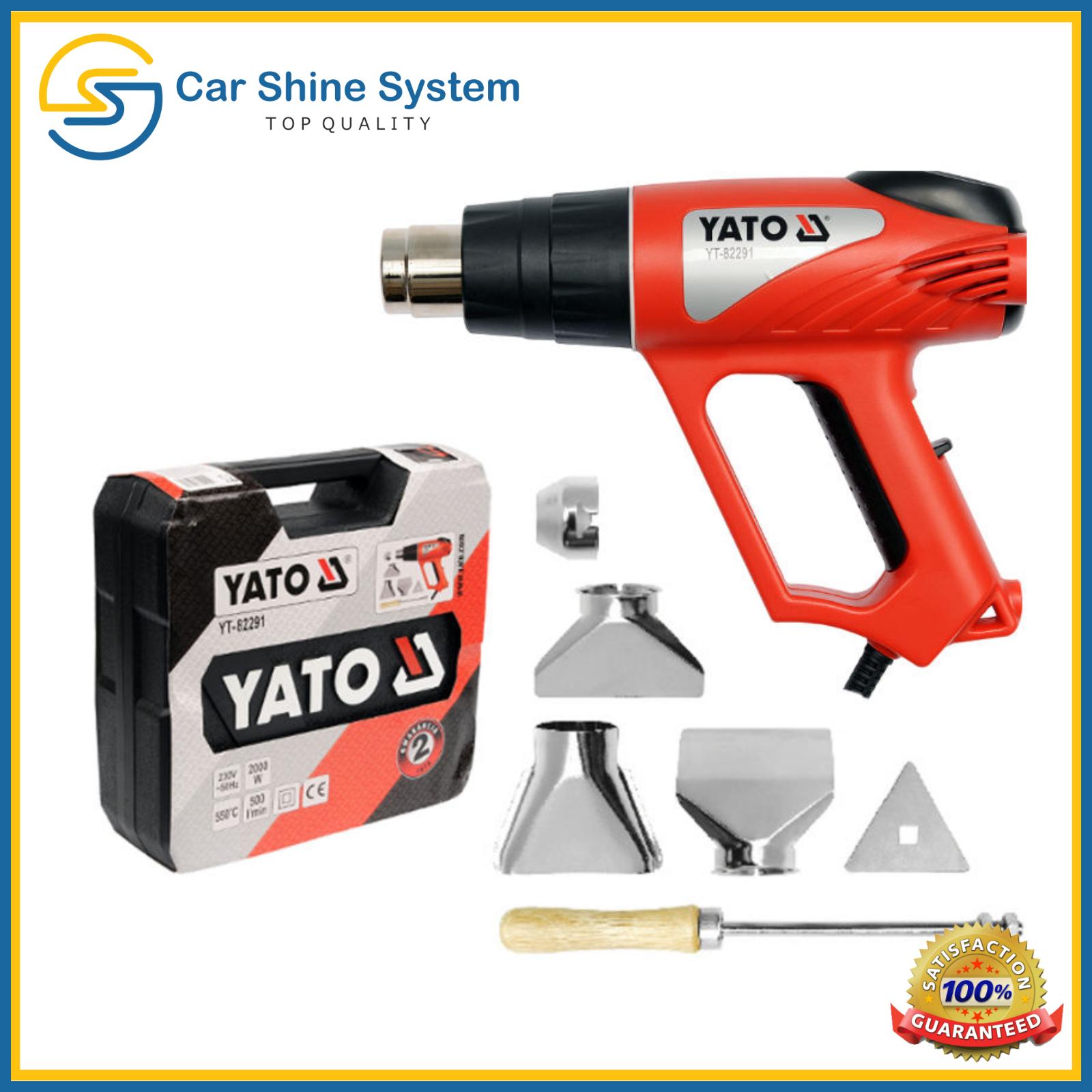 Yato Hot Air Gun with Accessories 2000w LCD Display Temperature Adjustment SET