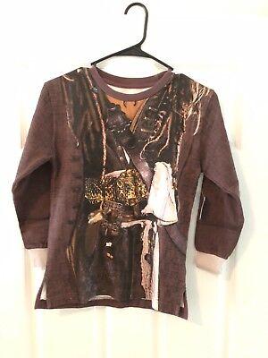 Disney Pirates of The Caribbean Shirt Boys  L Jack Sparrow Cruise Halloween
