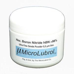 Details about MICROLUBROL 1/2 oz HEXAGONAL BORON NITRIDE hBN Powder ULTRA  FINE 0 5 µ micron