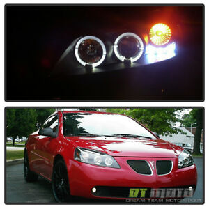 Image Is Loading Blk 2005 2010 Pontiac G6 Led Halo Projector