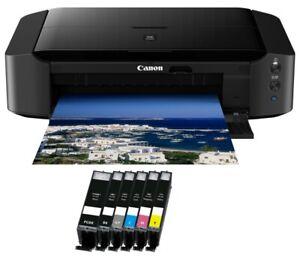 Canon-PIXMA-IP8750-A3-Drucker-USB-6x-XL-TINTE-CD-Druck-WLAN-Fotodrucker