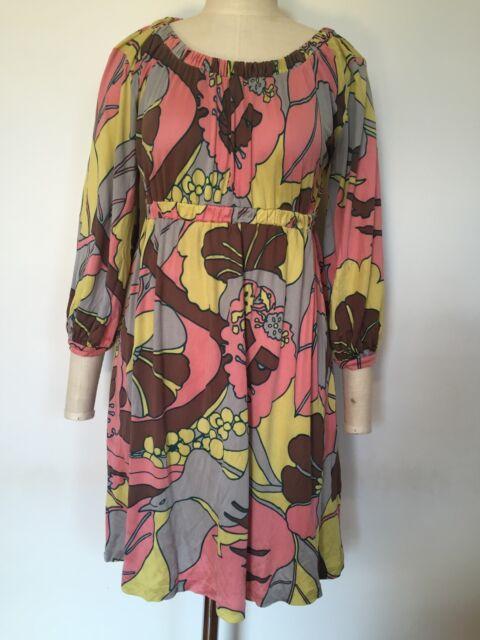 Designer tibi NEW YORK Pure Silk Jersey Printed Dress, Small