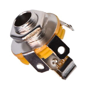 Klinken-Einbaubuchse-6-3mm-Mono-mit-Schalter-Jack-Socket-Female