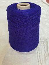500 Gram Cone 90% Wool 10% Nylon 3/9Nm Weaving Twist/knit.3-4ply. Royal Blue.