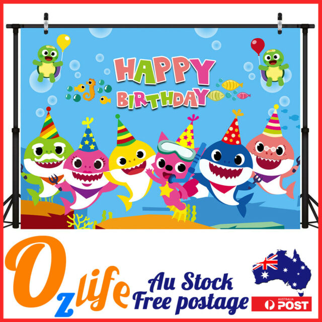 Party Backdrop Wall Banner Decoration Photograph Kit Baby Shark Frozen Zoo