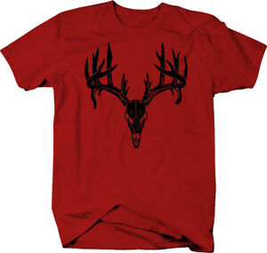 Deer-Skull-Antlers-Hunting-Archery-Buck-Rack-Color-T-Shirt