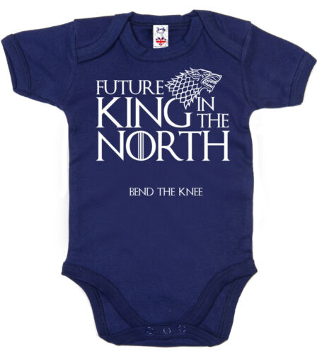"Game Thrones Baby Body /""futur roi dans le Nord/"" Baby Grow Vest A VÊTEMENTS"