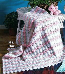 Rose Baby Blanket Crochet PATTERN Crochet Baby Blanket Pattern