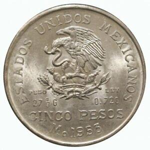 1953 Mexico Cinco Pesos Silver - Silver Genuine MF69830