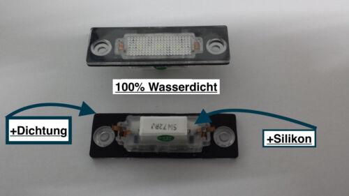 2x LED SMD Kennzeichenbeleuchtung VW Touran Bj 01.2003-04.2010 VWP2