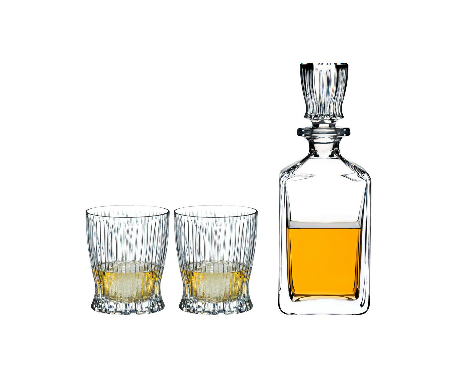 Riedel whiskyset Fire, 3-piezas, whisky decanter y 2 whisky vasos