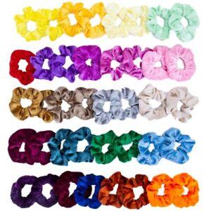 10-20-40PCS-Women-Hair-Scrunchies-Velvet-Elastics-Hair-Ties-Scrunchy-Bands-Ropes