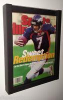Magazine Sports Illustrated Display Frame Case Black Shadow Box : Bh02-bl