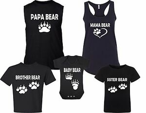 New Papa Mama Baby Bear Sister Bother Black Family