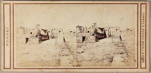 Pompei-Italia-Foto-Sommer-amp-Behles-Stereo-PL55L1n1-Vintage-Albumina-c1865