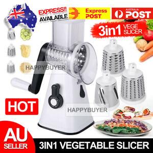 AU-Kitchen-Multifunction-Vegetable-Food-Manual-Grater-Chopper-Slicer-3-Blades