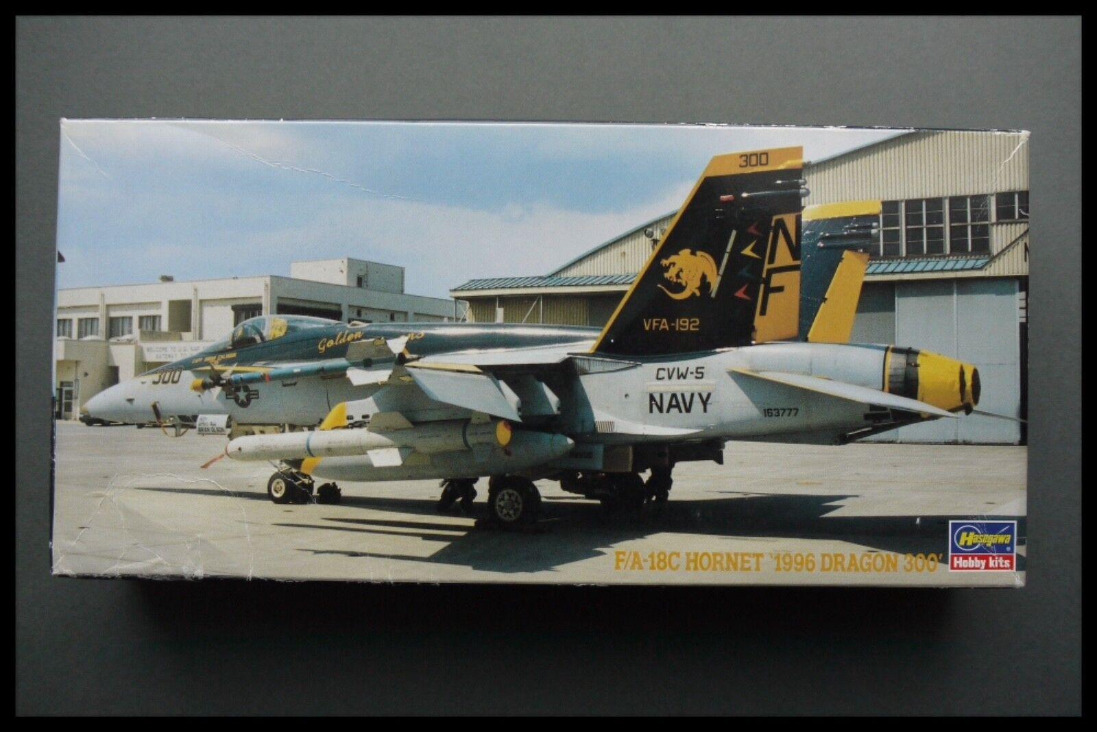 Rare Hasegawa 1 72 F A18C Hornet 1996 Dragon 300 Model Kit 02885