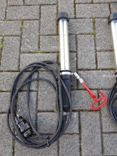 1x Professionnel Torche Inspection Lampe Rhin technique Fluorex 2x8w 220 V armée