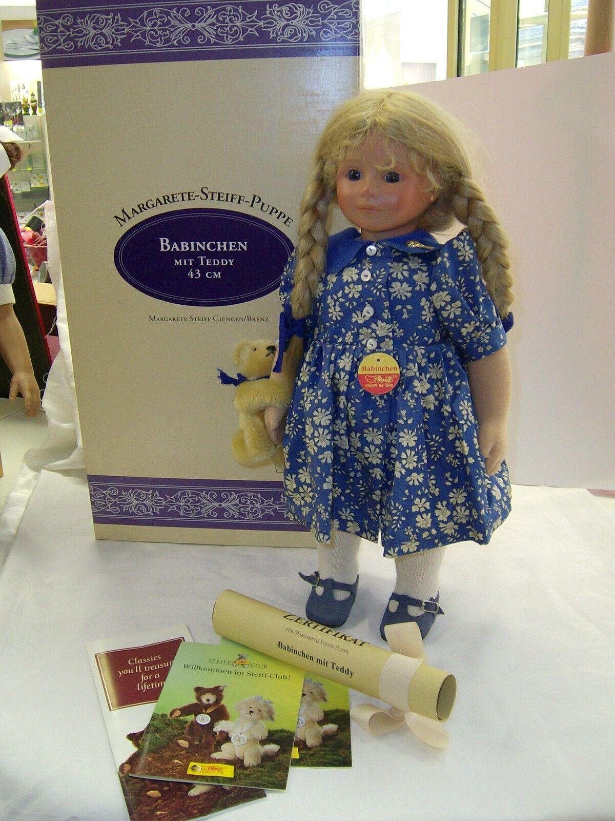 Steiff Puppe Babinchen mit Teddy limitierte limitierte limitierte Edition 956508