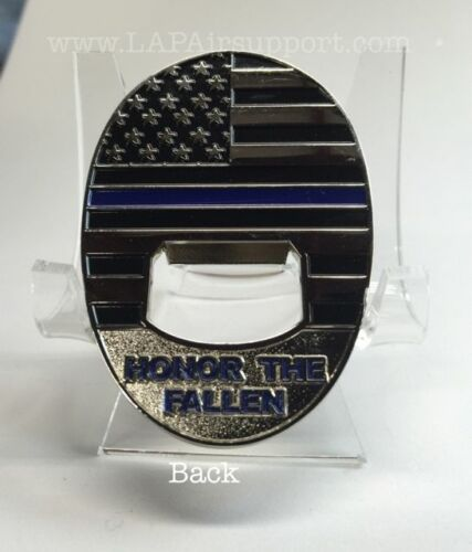 Los Angeles Police Department LAPD Thin Blue Line Bottle Opener Challenge Coin