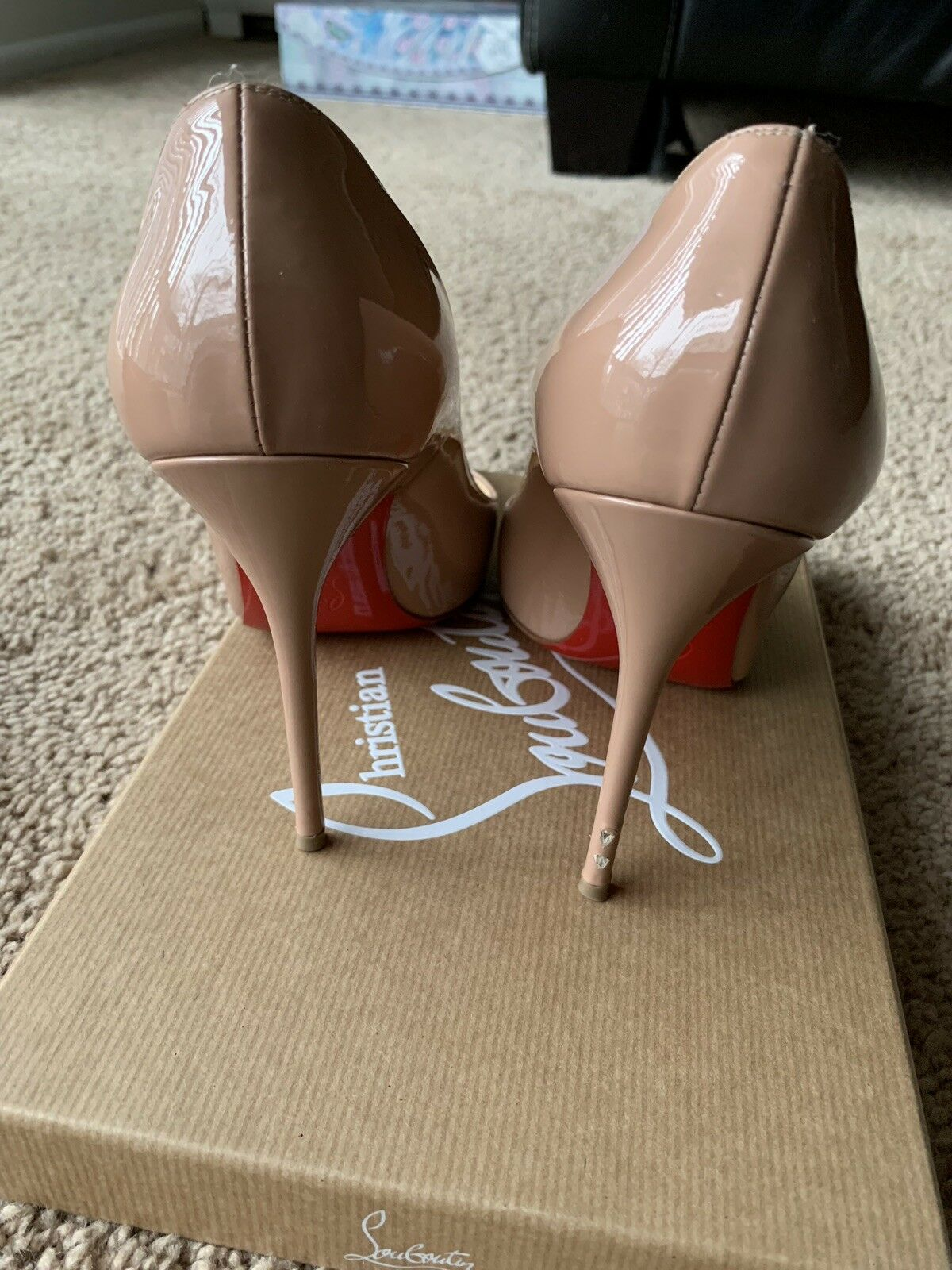 New Christian Louboutin Decollete 554 100 patent-leather pumps MSRP  695 Size 38