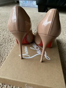 ed8b363a9d0a Image is loading New-Christian-Louboutin-Decollete-554-100-patent-leather-