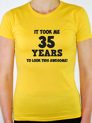 45th Birthday Gift Themed Women/'s T-Shirt Forty Five IT TOOK ME 45 YEARS