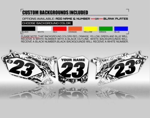 BLACK DECALS 2016 2017 2018 KTM SXF 250 350 450 GRAPHICS KIT BONECRUSHER