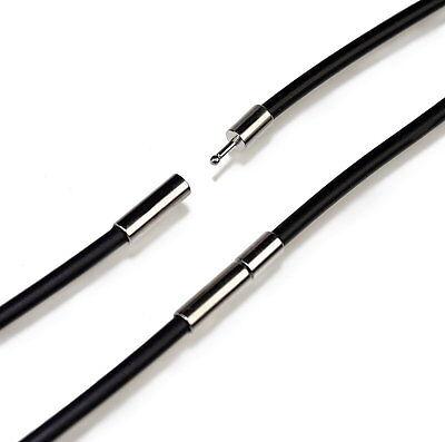 N84 Kautschuk Kette Halskette Ø 2mm Herren Damen Anhänger Rubber Necklace Men