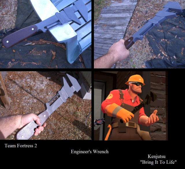 Engineer's Wrench from Team Fortress 2 (cosplay prop)