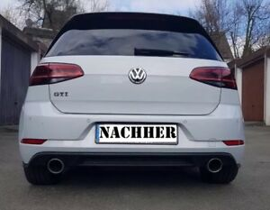 facelift golf 7 gtd gti sportauspuff auspuff. Black Bedroom Furniture Sets. Home Design Ideas