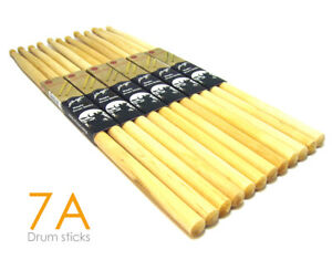 6-Pairs-Drum-Sticks-7A-Drumsticks-Maple-High-Quality-Wood-12-Sticks-Johnny-Brook