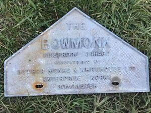 Vintage Plaque Metal Sign Vintage rare Garage sign bowmonk