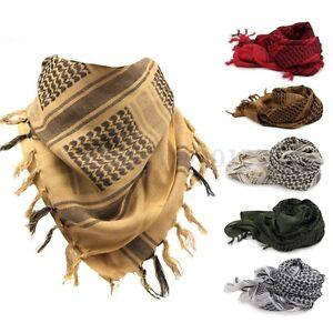 Shemagh-Militare-sciarpa-Tattico-Keffiyeh-Uomo-Donna-Scarf-Foulard-Kefiah-Araba