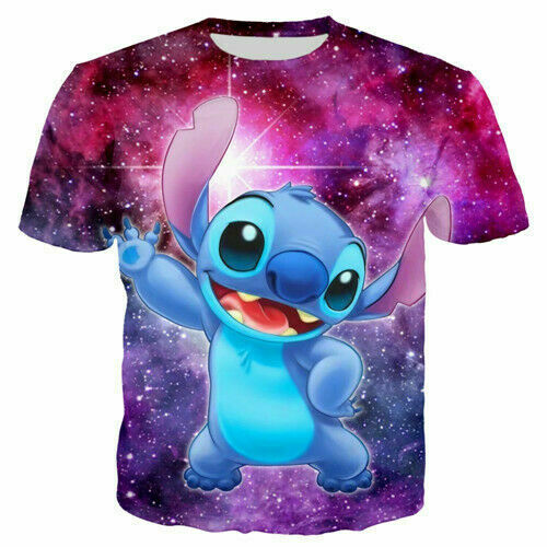 Cartoon Stitch Casual child Kids T-Shirt 3D Print Short Sleeve Tee tops