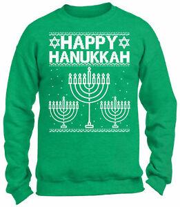 Jewish Christmas Sweater.Details About Happy Hanukkah Christmas Sweatshirt Jewish Ugly Christmas Sweater Hanukkah Xmas
