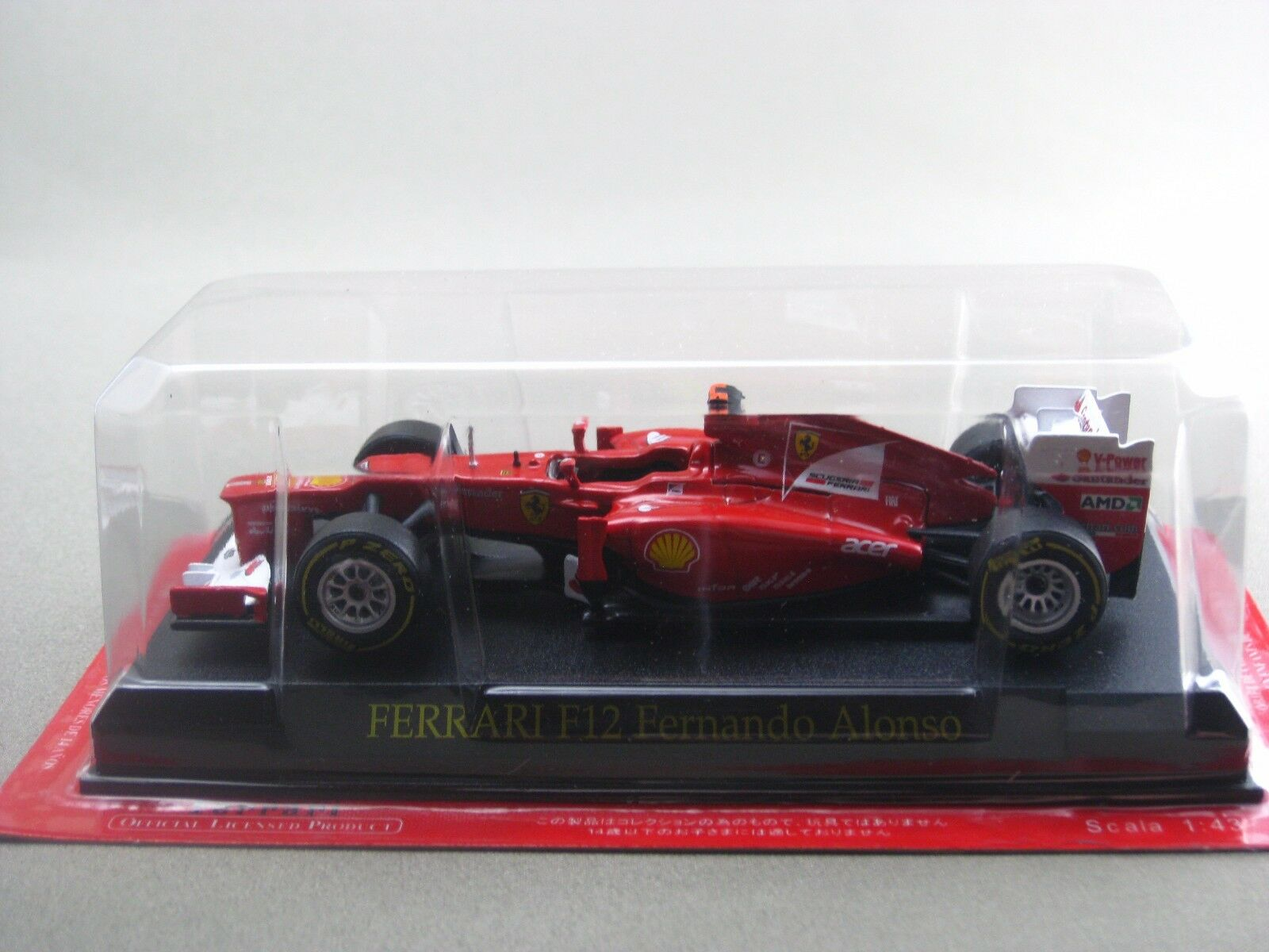 Ferrari F2012 FERNANDO ALONSO 2012 hachette 1 43 Diecast Model car Vol.78