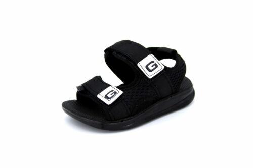 Schwarz Neu Gr Pantoletten// Slipper 21-24 GEZER® Kinder Sandalen