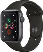 Apple Watch Gen 5 Series 5 44mm Space Gray Aluminum - Black Sport Band MWVF2LL/A