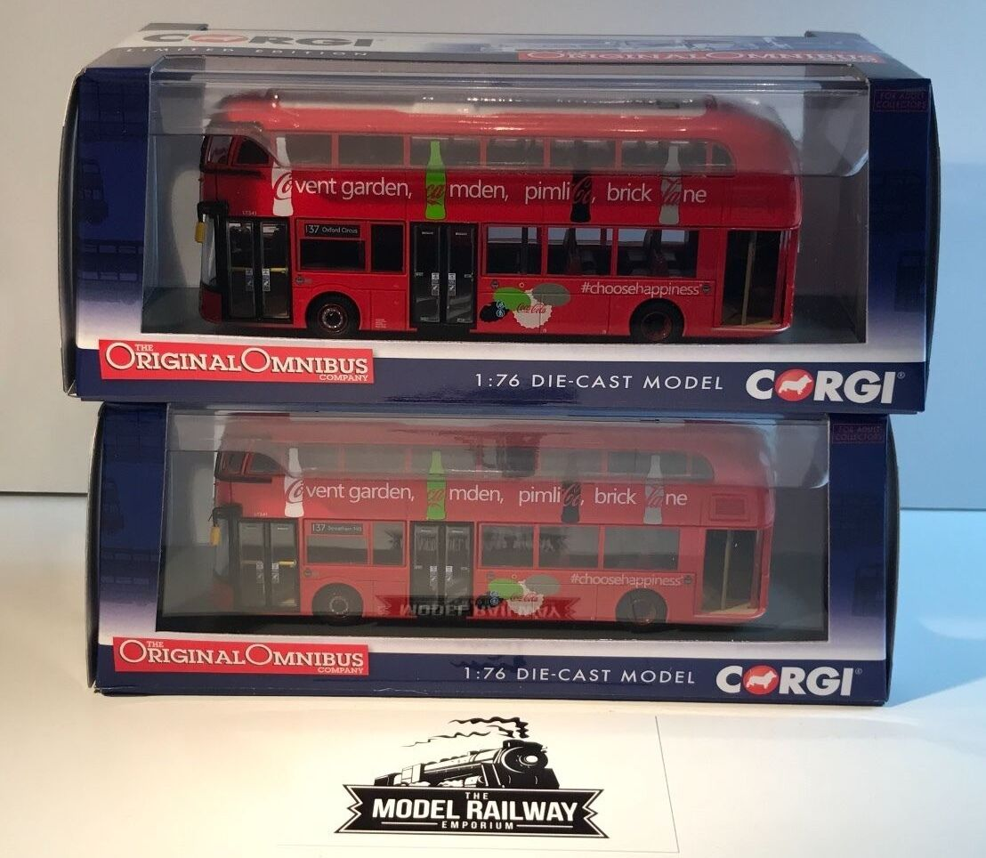 CORGI OOC - OM46615A B - NEW ROUTEMASTER ARRIVA OXFORD CIRCUS STREATHAM DUO NEW