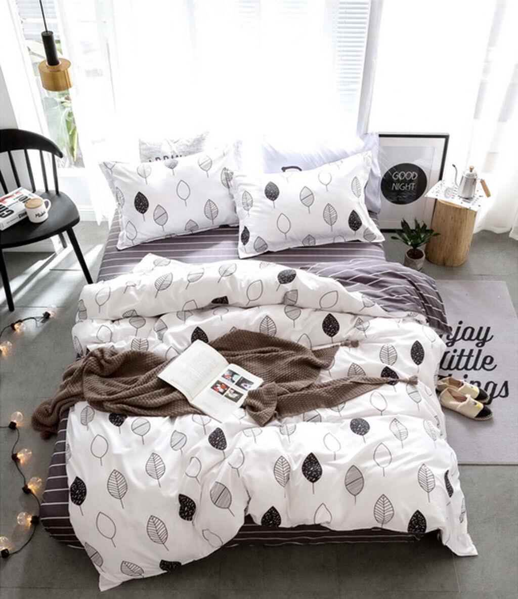 Queen King SuperKing Size Bed Duvet Doona Quilt Cover Set New Ar M356
