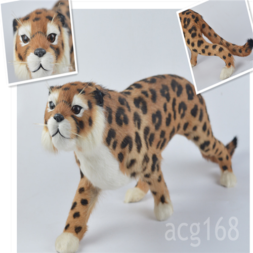 Big Simulaiton Leopard Toys Cute Soft Animal Model Plush Doll Kid Gift 55CM*20CM