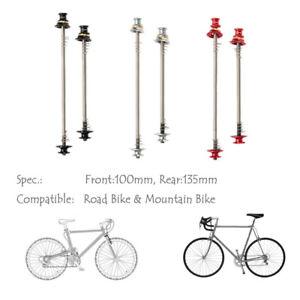 2Pcs Bicycle Skewers Ultralight Titanium MTB Road Bike Wheel Hub Axle QR Skewer