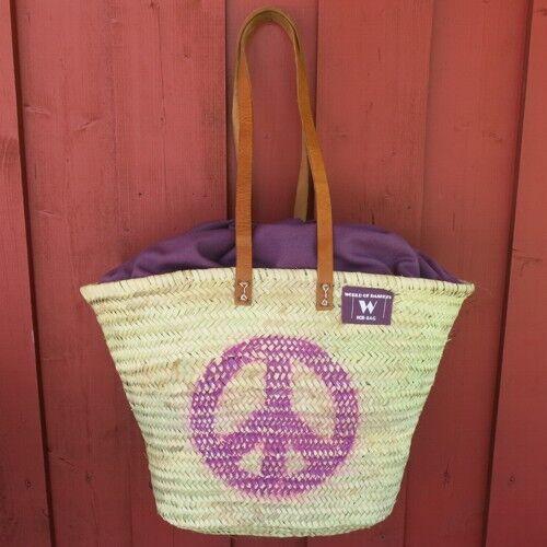 Ibizatasche Peace lila Korbtasche Ibiza Tasche Tasche Tasche Markttasche | Charmantes Design  | Neueste Technologie  | Elegantes Aussehen  4074fd