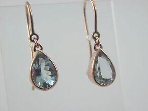 Aquamarine-tear-drop-earrings-9-carat-rose-gold-french-hook