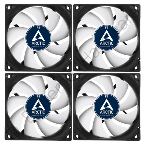 4 x Arctic Cooling F8 80mm Case Fans 2000 RPM AC Artic AFACO-08000-GBA01