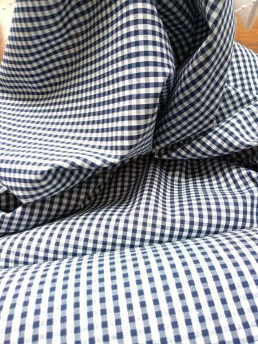 "Bleu Marine Vichy Gingham Check 1//8/"" mélange coton tissu vendu//Par Mètre//"
