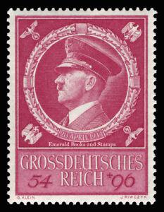 EBS-Germany-1944-Hitler-039-s-55th-Birthday-Geburtstag-Hitlers-Michel-887-MNH