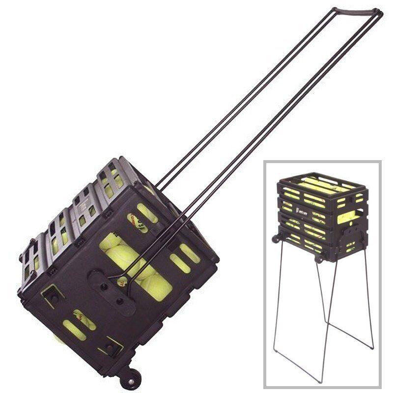 Pros Pro Ballkorb - ein rollbarer Ballsammelkorb für 80 Bälle, mit Tragegriffen